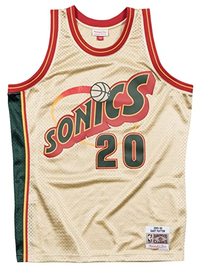 buy popular 96a35 37903 Amazon.com : Mitchell & Ness Gary Payton Seattle Supersonics ...