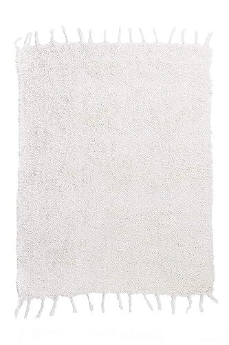 Jarapa Home Alfombra natural hecha a mano de pelo largo algodón reciclado 70 x 130 cm. Alfombra de salón, dormitorio pasillo pie de cama cocina baño etc.: Amazon.es: Handmade