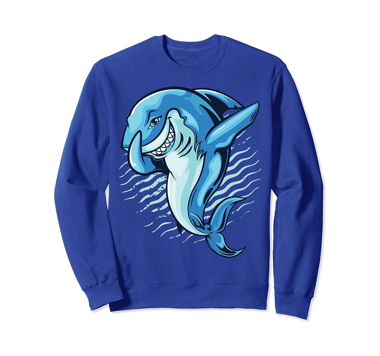 Dabbing Shark Sweatshirt Jawsome Funny Great White Dab Dance-Rose