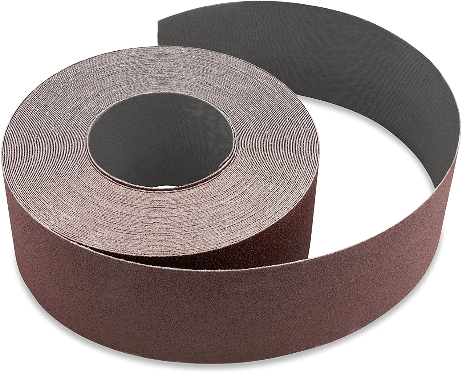 Red Label Abrasives 6 Inch X 50 FT 80 Grit Woodworking Drum Sander Strip Roll Cut to Length