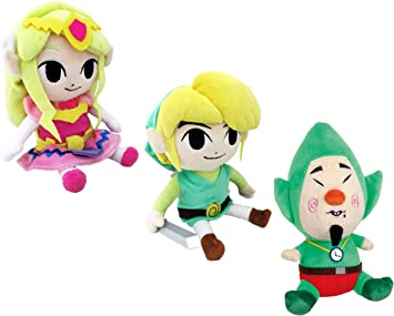THE LEGEND OF ZELDA - SET 3 PELUCHES 18cm LINK, PRINCESA ZELDA TINGLE / 3 PLUSH: Amazon.es: Juguetes y juegos