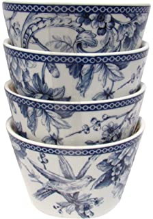 Amazon.com | Adelaide 16 Piece Dinnerware Set in Blue: Dinnerware ...