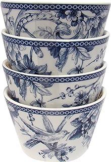 222 Fifth Adelaide Blue Dessert/appetizer Round Bowls - Set of 4  sc 1 st  Amazon.com & Amazon.com: 222 Fifth Adelaide Blue u0026 White Cereal Bowls Set of 4 ...