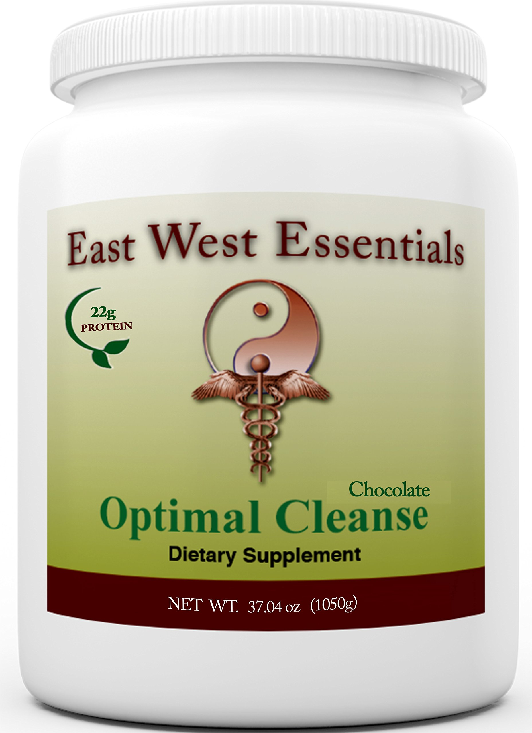 Optimal Cleanse - Chocolate by East West Essentials - Helps Eliminate Toxins from The Liver and Fat Cells - AIDS in Weight Loss - Can Be Used As A Meal Replacement