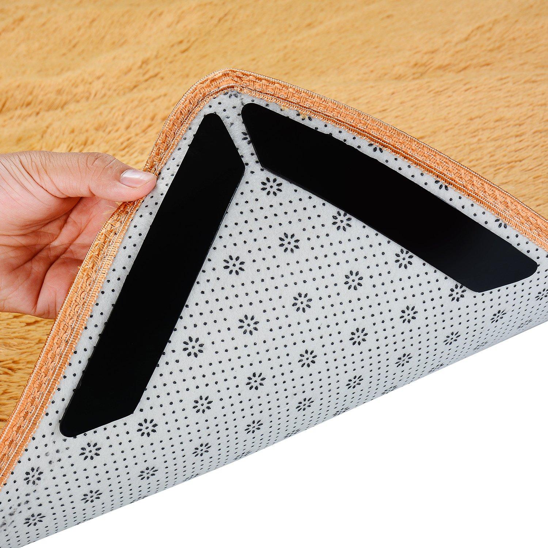 KALAPOP Rug Gripper for Carpet & Bathroom Area, Outdoor Rug Gripper (Black x8)