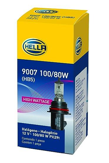 Amazon.com: HELLA 9007P50TB + 50% + +50 Performance 9007 Bulbs, 12V, 65/55W 2 Pack: Automotive