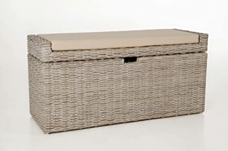 vivanno aposvivanno rattan laundry basket quotcombo and seat bench cushion vivianos chesterfield hours