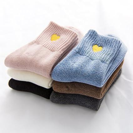 Calcetines calcetines de algodón Camisa mujer versión coreana del otoño y el invierno, el algodón