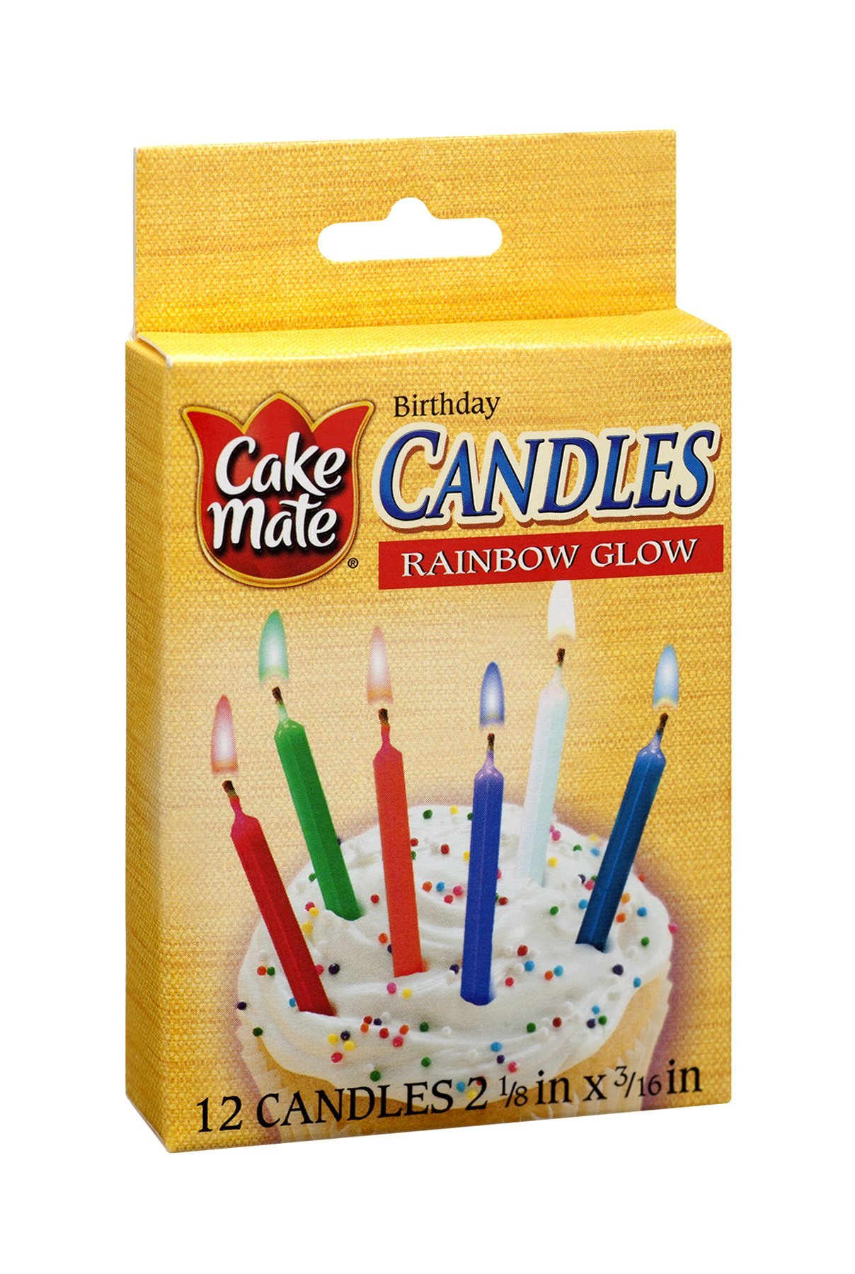 Cake Mate Rainbow Glow Birthday Candles 12 CT (Pack of 24) by Cake Mate