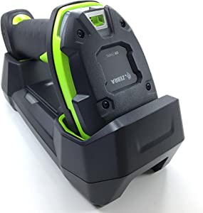 Zebra DS3678-ER (Extended Range) Ultra-Rugged Cordless 2D/1D Barcode Scanner/Linear Imager Kit, Bluetooth, FIPS, Vibration Motor, Includes Cradle, Power Supply and Heavy-Duty USB Cable (CBA-U42-S07)