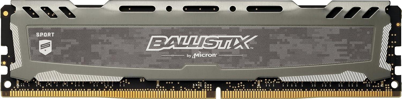 Crucial Ballistix Sport LT 2400 MHz DDR4 DRAM Desktop Gaming Memory Single 8GB CL16 BLS8G4D240FSB (Gray)