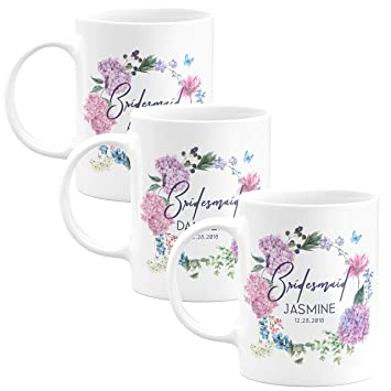 Amazon Personalized Bridesmaid Coffee Mug Gifts With Free