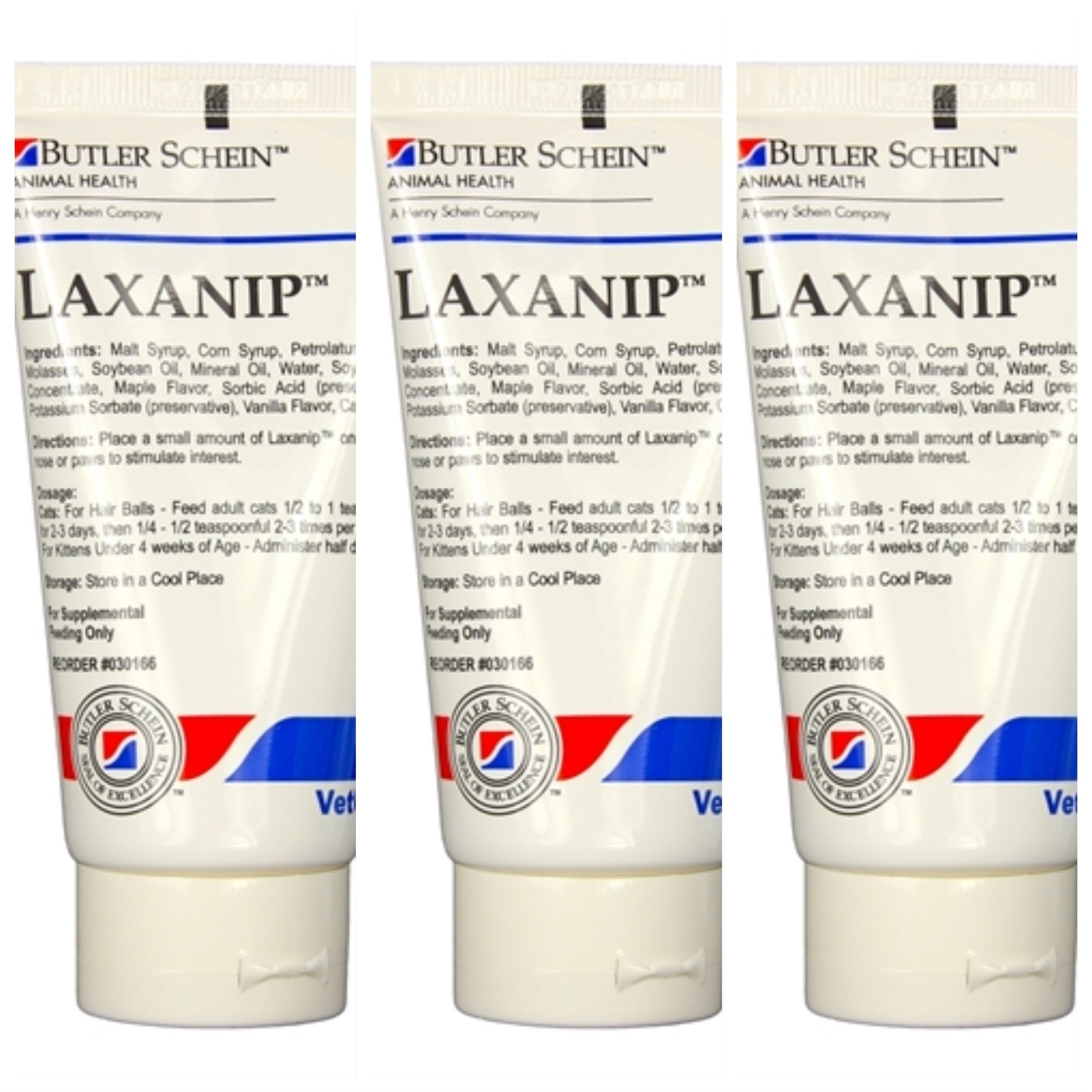 Laxanip For Cats, 3 oz.Tube, 3 Pack