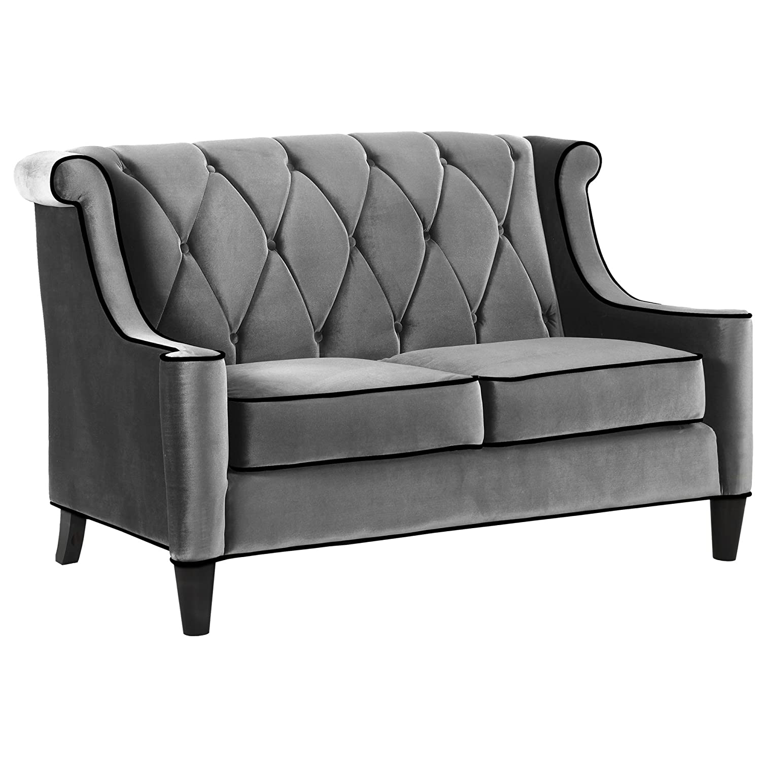 Amazon Armen Living LC8442GRAY Barrister Loveseat in Grey
