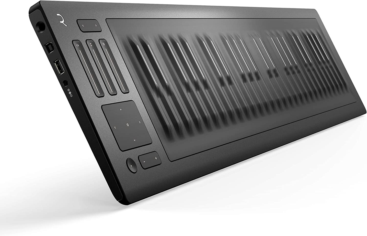 ROLI | Seaboard RISE 49 - Expressive MIDI Keyboard Controller | Use Intuitive Gestures on a Pressure-Responsive Surface to Bend Pitch, Adjust Timbre