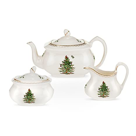 Amazon.com | Spode Christmas Tree Gold Tea Set: Tea Services: Teapots