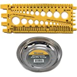 Titan Mini Magnetic Parts Tray and Bolt - Nut - Screw Size Thread Pitch Gauge