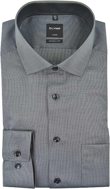 Camicia da uomo a maniche lunghe dal taglio moderno