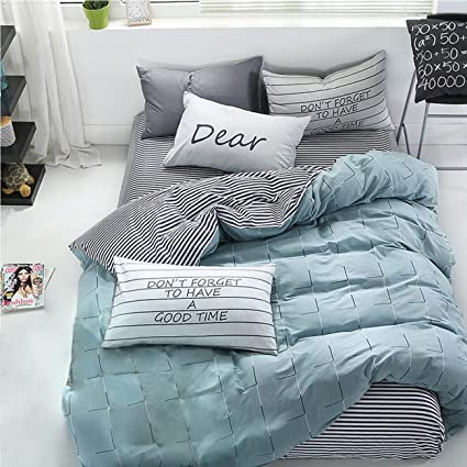 Wonbye Bed And Pillow Sheet Bedding Duvet Cover Set, Best Bed Sheet 100  Percent Cotton