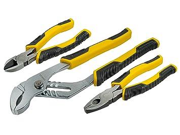 STANLEY STHT0-74471 - Juego de Alicates Control Grip, incluye alicate universal, corte diagonal y cremallera: Amazon.es: Bricolaje y herramientas