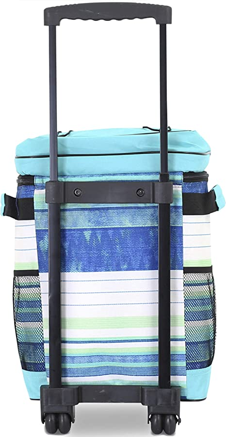 Travelers Club 18 Cool Carry Insulated Rolling Cooler Bag