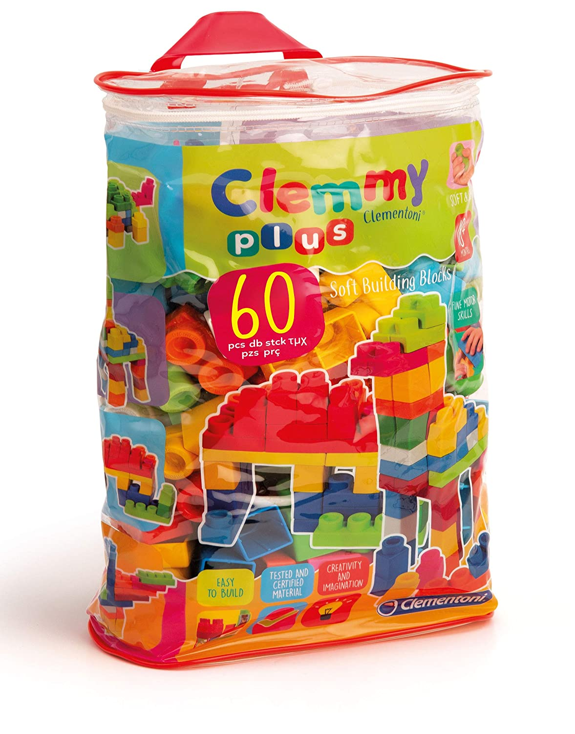 Clementoni Clemmy Plus 60 Blocks Bag Creative Toy Company 14880