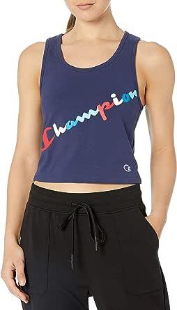 Champion womens Authentic Crop Top Sleeveless T-Shirt