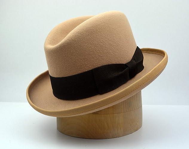2f101cdb427f Image Unavailable. Image not available for. Color: The Ambassador - Men's  Weight Rabbit Fur Felt Homburg Fedora Hat ...
