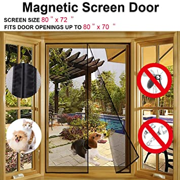 Magnetic Screen Door For French Doors,Sliding Glass Doors, Patio Doors Fits  Doors