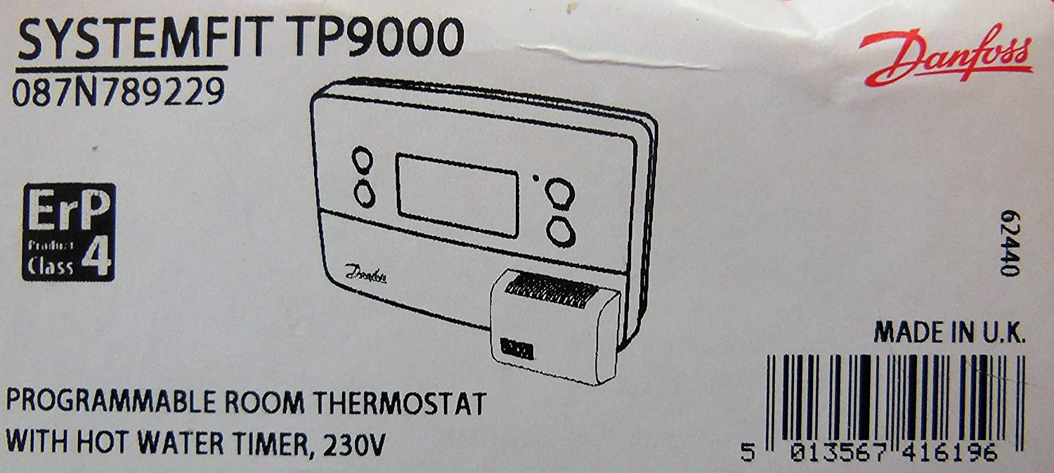 Danfoss Tp9000 Programmable Room Thermostat With Hot Water Timer Wiring Diagram 230v Diy Tools