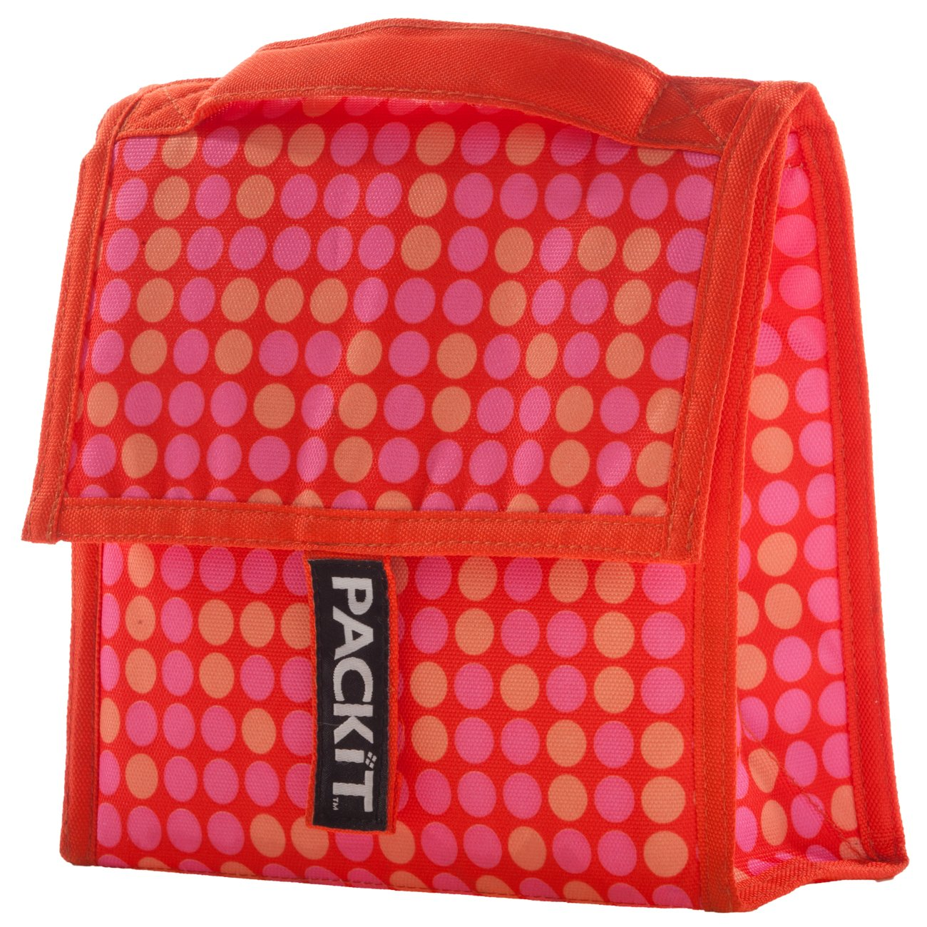 Packit Mini - Bolso nevera, diseño a lunares, color naranja ...