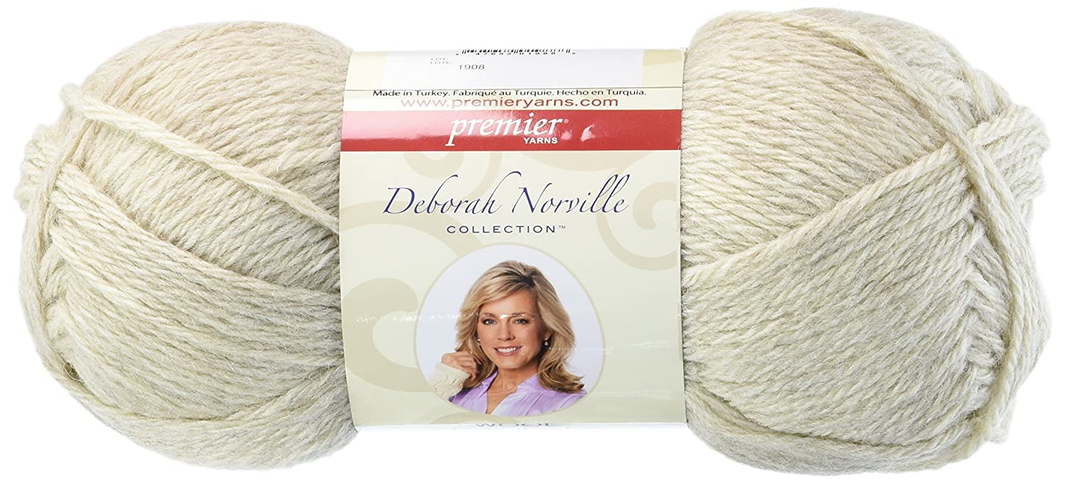 Premier Yarn Deborah Norville Collection Wool Naturals, Oatmeal, Pack of 3 Notions - In Network DNC425-2