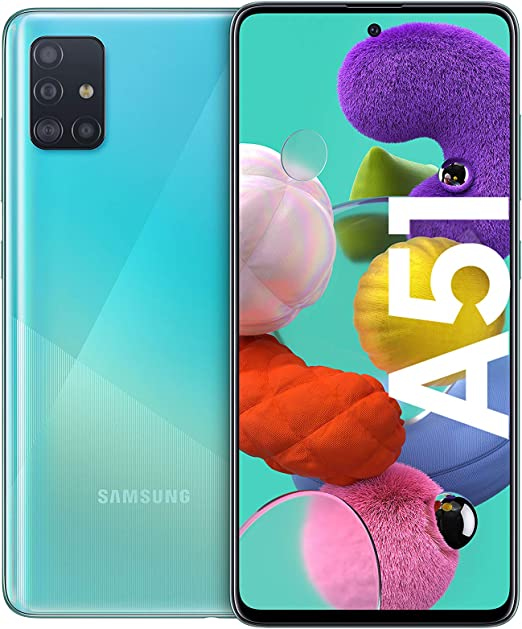Samsung Galaxy A51 Android Smartphone Ohne Vertrag 4 Kameras 6 5 Zoll Super Amoled Display 128 Gb 4 Gb Ram Dual Sim Handy In Blau Amazon De Elektronik