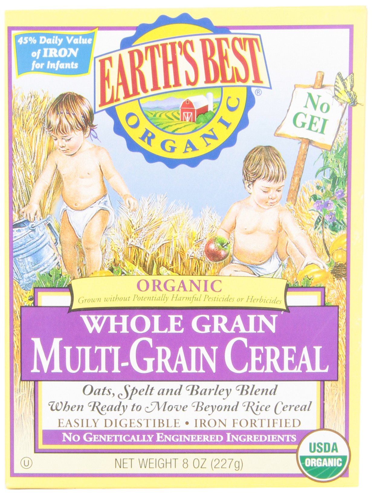 Earth's Best Baby Cereal - Multi Grain - 8 oz