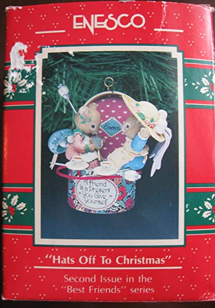 Hats Off To Christmas.Amazon Com Enesco Ornament Hats Off To Christmas 1991