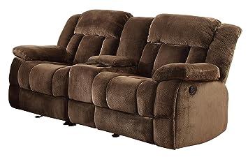 Superb Homelegance Laurelton 79 Microfiber Double Glider Reclining Loveseat Chocolate Brown Creativecarmelina Interior Chair Design Creativecarmelinacom