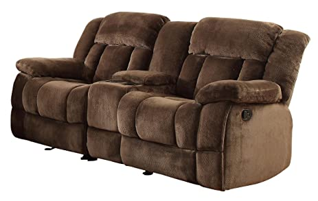 Homelegance 9636-2 Laurelton Textured Plush Microfiber Dual Glider Recliner Love Seat with Console  sc 1 st  Amazon.com & Amazon.com: Homelegance 9636-2 Laurelton Textured Plush Microfiber ... islam-shia.org