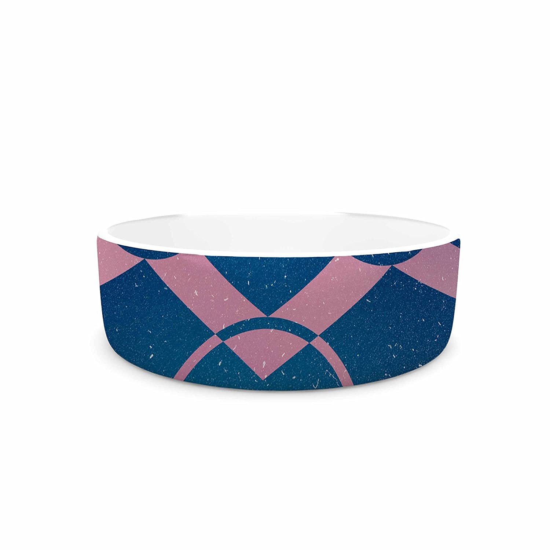 KESS InHouse Matt Eklund Switched  Pink bluee Pet Bowl, 7