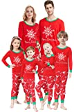 Matching Family Pajamas Christmas Boys and Girls Snowflake Pyjamas 2 Piece PJs Set
