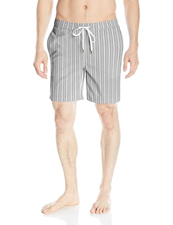 e4d4ff8080 Onia Men's Charles 7 Inch Stretch Pattern Swim Trunk, Heather Grey/White,  Small
