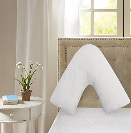 Black Queens Land Home Orthopaedic Maternity Pregnancy V-Shaped Pillow for Nursery Pillow for Comfort /& Support with free Pillow Case