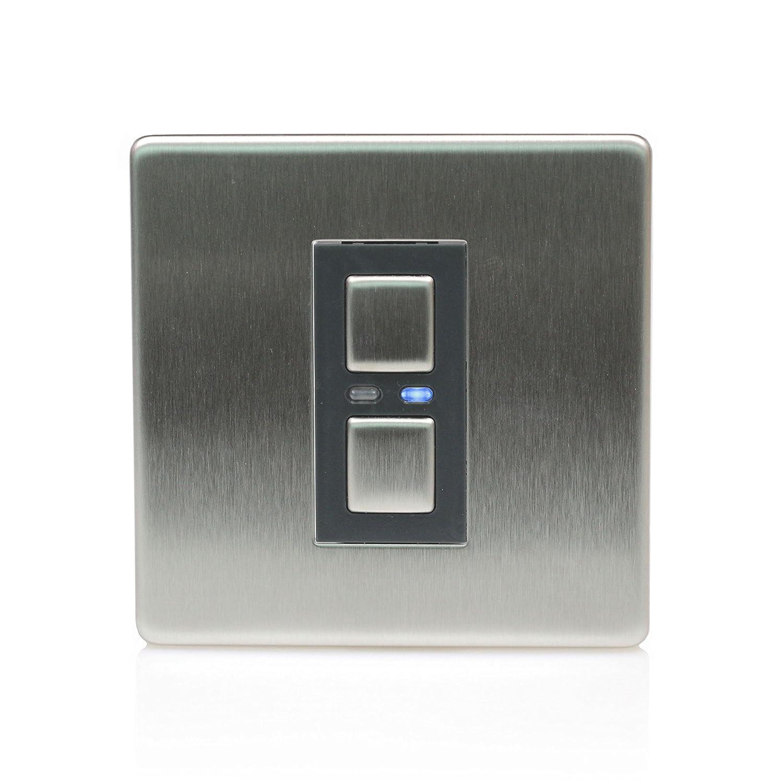 Lightwave 1 Gang Slave Light Dimmer Switch - Stainless Steel ...