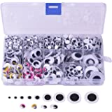 Self-adhesive Googly Wiggle Eyes 5 mm to 25 mm Assorted Sizes for Art Craft Projects, 1083 Pieces