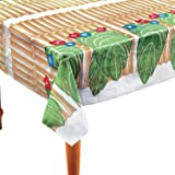 Fun Express - Bamboo & Palm Leaf Tablecover - Party Supplies - Table Covers - Print Table Covers - 1 Piece
