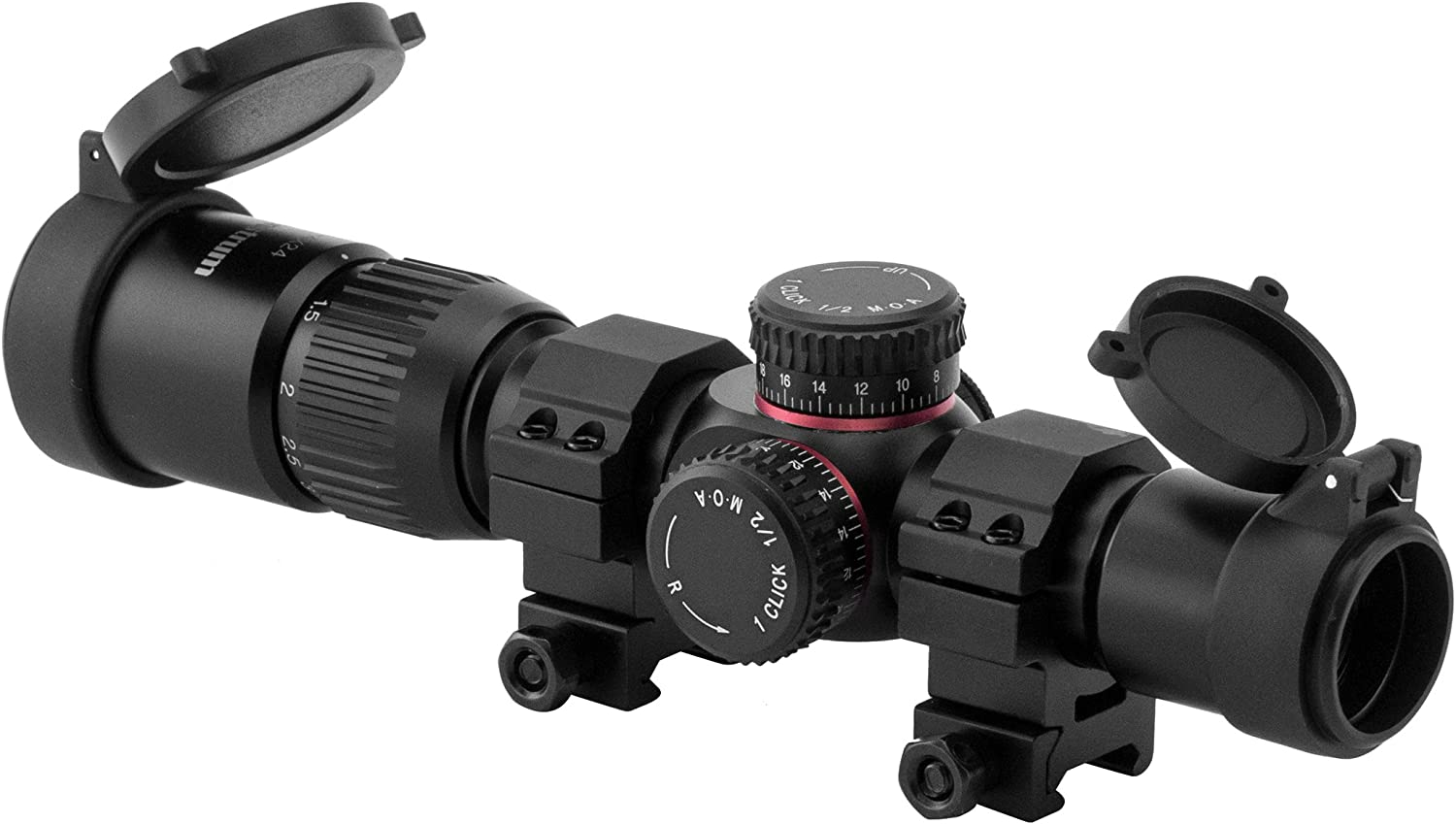 Monstrum G2 1-4×24 First Focal Plane FFP Rifle Scope with Illuminated BDC Reticle