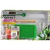 PICK AND DRINK KDO8509 Coffret Mojito Complet Bois Vert 19,20 x 10,60 x 0,50 cm