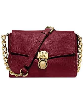 6160674aa811d2 Michael Michael Kors Hamilton Small Messenger Crossbody Bag in Cinnabar Red