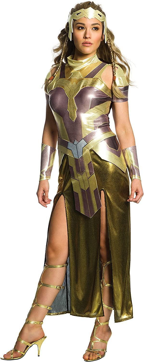 Amazon Com Rubie S Women S Wonder Woman Movie Deluxe Hippolyta Costume Clothing