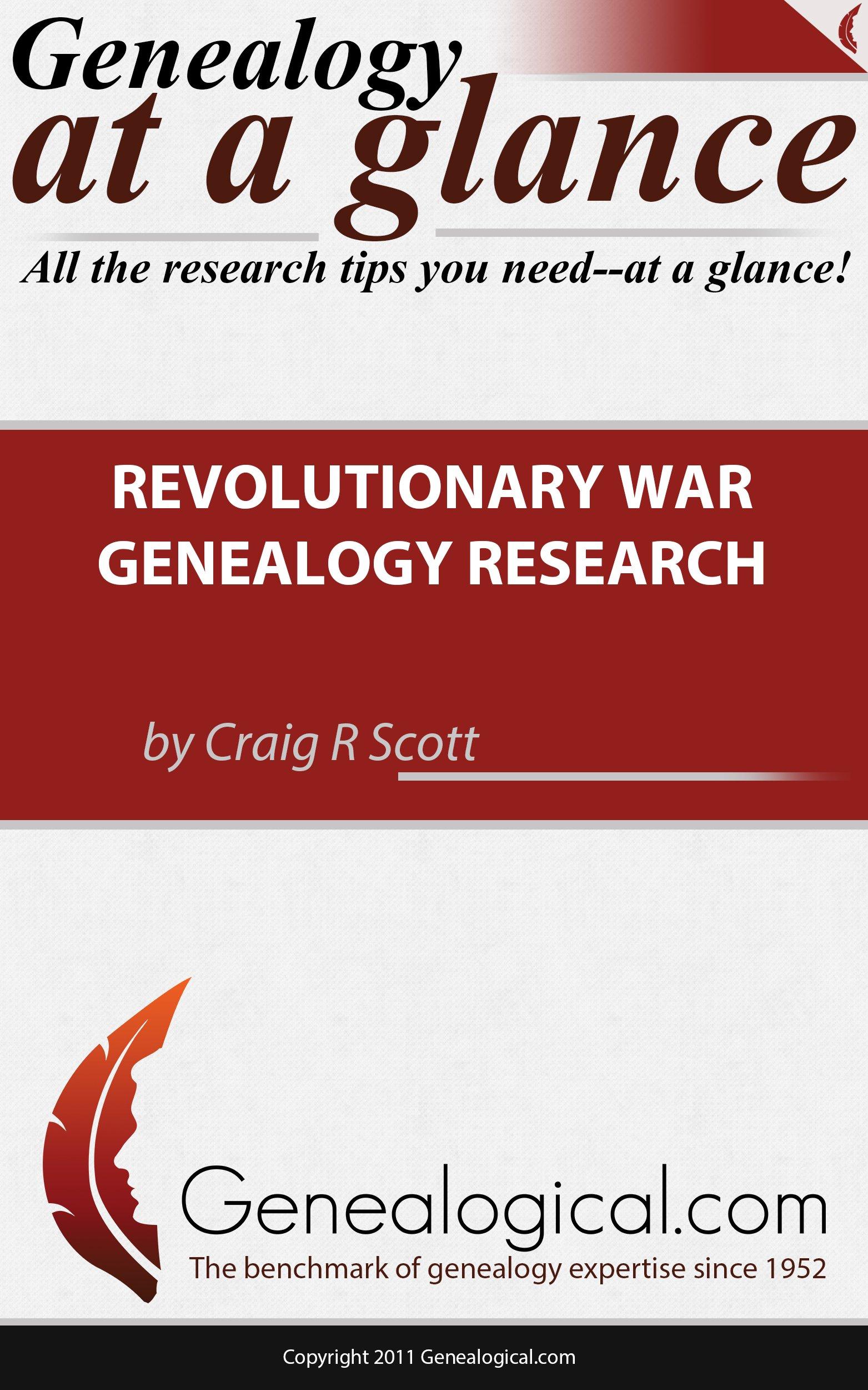 Read Online Genealogy at a Glance: Revolutionary War Genealogy Research pdf