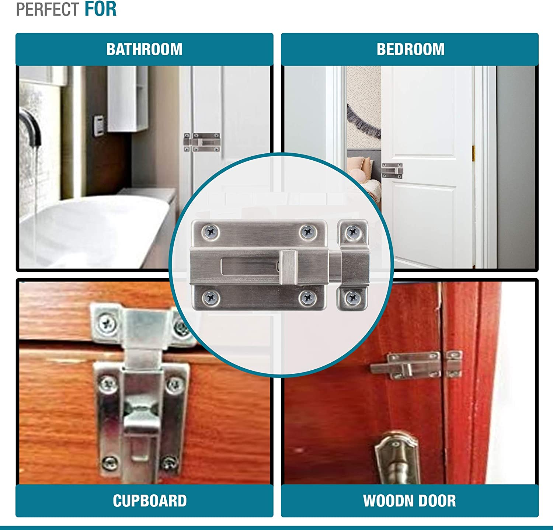 Door Bolts for Internal Doors Lock for Bedroom Door Bedroom Lock Bathroom Lock Bedroom Door Lock Door Bolt Bolt Lock Door Locks Internal Internal Door Lock Locks for Doors Aval 1x Door Lock